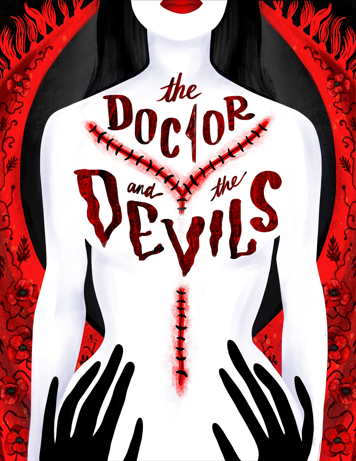 "Poster inspired by a new adaptation of Dylan Thomas's ""The Doctor and the Devils""."