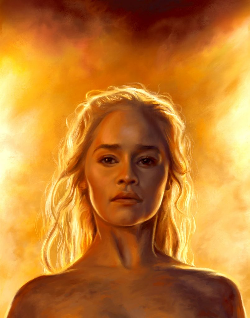 A painting of Daenerys Targaryen